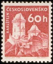 Sello: Karlštejn (Checoslovaquia) (Strongholds and Castles) Mi:CS 1190,Sn:CS 975,Yt:CS 1073,AFA:CS 1036,POF:CS 1106