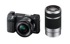 #Sony 16.1 MP Compact System #Camera with 16-50mm Power Zoom Lens and 55-210mm Lens (Model NEX6L/B2BDL)