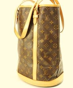 4fcf62f599cd Louis Vuitton Bucket Monogram Gm (Large) Brown Leather Shoulder Bag 65% off  retail
