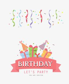 Birthday party PNG and Clipart Gift Box Birthday, Birthday Wishes, Birthday Parties, Happy Birthday, Birthday Cartoon, Birthday Clipart, Creative Colour, You Are Invited, Clip Art