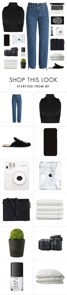 """""""outro: wings"""" by flying-baby-unicorn ❤ liked on Polyvore featuring Vetements, WearAll, Gucci, Pieces, Linum Home Textiles, Nikon, NARS Cosmetics and Nimbus"""