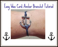 "EASY WAX CORD ANCHOR BRACELET TUTORIAL - YouTube Free shipping for orders over $30.00 and many coupon codes like 15% off with cc ""Sincere"""