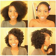 Twist out with side part