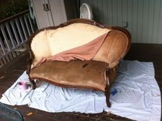 How To Reupholster a Vintage Settee   My Polished Imperfections