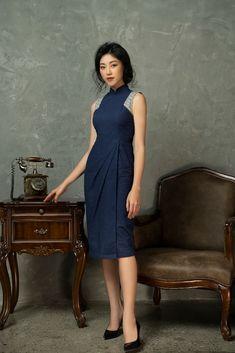 Ethnic Fashion, Denim Fashion, Asian Fashion, Emo Dresses, Fashion Dresses, Party Dresses, Batik Dress, Kimono Dress, Tulle Skirt Tutorial