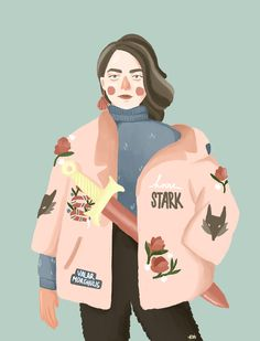 an illustration of Arya Stark from HBO series Game of Thrones