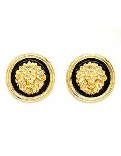 Lion Head Stud Earrings: Charlotte Russe