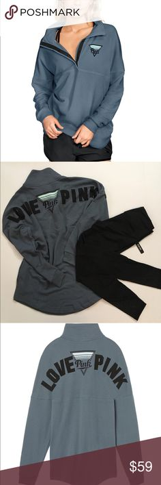 Large PINK Varsity Quarter Snap NWT, Oversized PINK Victoria's Secret Sweaters