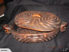 Carved Maori Feather Box  