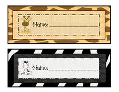 Wild About School! Jungle Name Plates