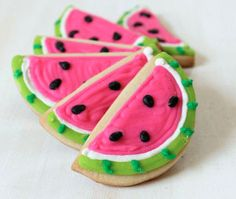 OMG! I HAVE to make these Watermelon Cookies