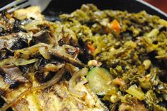Rainbow Trout / Greens / Zucchini / Mushrooms Cast Iron Skillet by Chef CLE