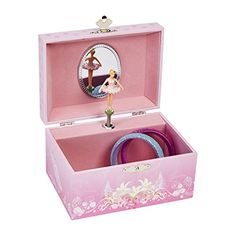 Jewelry Music Boxes - JewelKeeper Girls Musical Jewelry Storage Box with Spinning Ballerina Pink Design Swan Lake Tune -- Check out this great product.