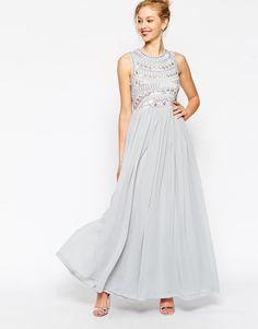 ASOS Embellished Armour Maxi Dress  Mama studio dress inspiration.