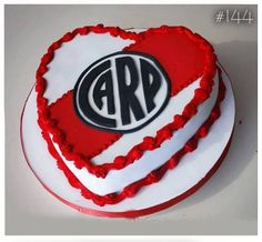 Resultado de imagen para river corazon Heart Cakes, Plates, Candy, Cookies, Desserts, Gabriel, Angel, Football, Ideas
