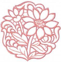 Chamomile cutwork free embroidery design. Machine embroidery design. www.embroideres.com