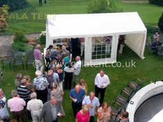 Extend your home with a Gala Tent Marquee, perfect for garden parties with loved ones