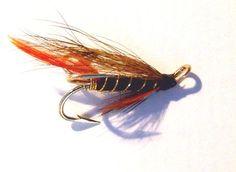 Salmon Fly Munroe Killer Tied on Gold Esmond Drury Treble Hooks