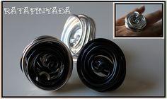 Licorice Wire Ring / Anillo Regaliz de Aluminio