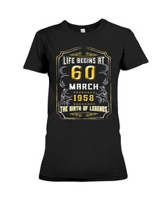 Birthday Gift For Him Best Gifts Woman Women 60th Shirts Ideas Turning 60 March Born