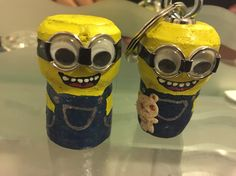 Cork crafts : Minions!!