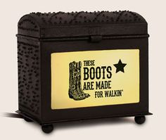 Cowboy/Cowgirl Inspirational Warmer - These Boots. Primitive Crafts, Primitive Decorations, Tart Warmer, Cowboy And Cowgirl, Westerns, Rustic, Brown, Tin, Catalog