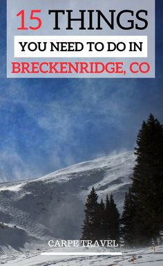 A travel guide to Breckenridge: Colorado off the beaten path at its best! Here are the 15 things you need to do with your kids in Breckenridge.  Breckenridge Colorado summer   Breckenridge Colorado winter   Colorado travel tips - via @elainschoch