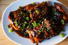 soy-glazed chicken – smitten kitchen Asparagus Frittata, Spinach Pasta, Turkey Recipes, Chicken Recipes, Turkey Meals, Healthy Chicken, Strawberry Rhubarb Compote, Strawberry Cakes, Flourless Desserts
