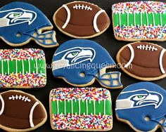 The Royal Icing Queen: Superbowl XLVIII - Seahawks Cookies