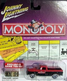 Johnny Lightning Monopoly Indiana Ave. '60s Studebaker Truck by Playing Mantis. $9.99. Includes exclusive Monopoly game token. 1:64 scale. Series 3. Collect all 12 cars in the third series!