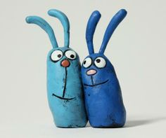 #Custom Love Bunnies: Whimsical Cake Toppers by blobhouse | Hatch.co