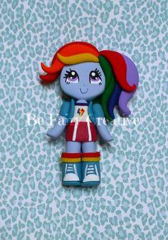 Rainbow Dash Inspired mlp Girl by BeFairyCreative on Etsy