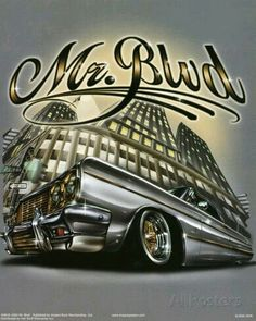 Mr Blvd - 24 x 36 inch Poster * New * Chicano Love, Chicano Art, Chicano Drawings, Cholo Art, Beautiful Dark Art, Lowrider Art, Brown Pride, Mural Art, Cartoon Art