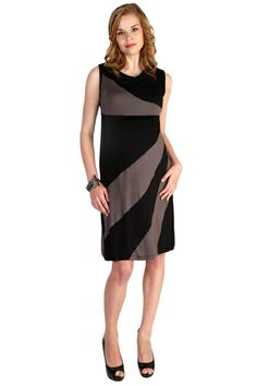 Japanese Weekend Diagonal Stripe Color Block Maternity And Nursing Dress | Nursing Apparel  Best selection of  maternity clothes on the web!  Available at Due Maternity  www.duematernity.com