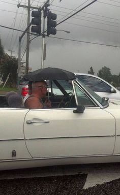 Plan Ahead Driving The Convertible In The Rain  - Best funny, pics, humor, jokes, hilarious, quotes