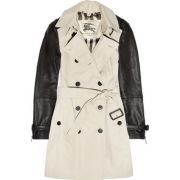 #Trench manches en cuir - Burberry