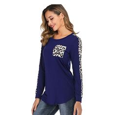 Women Autumn 2019 Sexy Leopard patchwork black Casual t shirt Ladies spring Loose Long sleeve oversized t shirt Streetwear tops Sexy Shirts, Casual T Shirts, Women's Shirts, Long Tops, Long Sleeve Shirts, Street Wear, Tunic Tops, Sleeves, Pocket