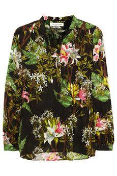 Étoile Isabel Marant Wescott floral-print cotton-gauze blouse | NET-A-PORTER