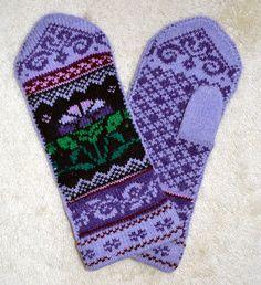 Norwegian Scandinavian hand crafted 100% Wool Mittens, folk art, Fair Isle. $26.00, via Etsy.