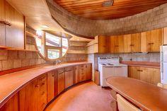 Kitchen - David Wright House / 5212 East Exeter Boulevard, Phoenix, AZ / 1950-1952 / Usonian / Frank Lloyd Wright