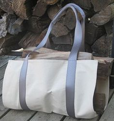 This is a simple to sew carrier for firewood! This free pattern will guide you through every thing you need to sew your own strong and durable log carrier.