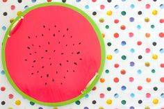 I'll attempt to do this cute DIY. Watermelon serving tray yay...