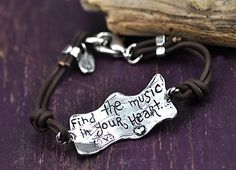 The back of the Find the Music bracelet by Island Cowgirl Jewelry.  #bracelet #handmadejewelry #cowgirljewelry #bracelet #inspirational  islandcowgirl.com