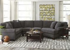 Living Rooms, Corey Sectional, Living Rooms | Havertys Furniture