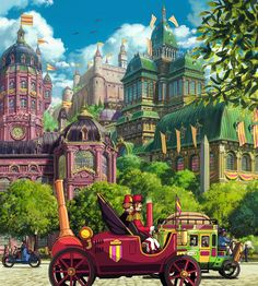 Studio Ghibli background - Howl's Moving Castle