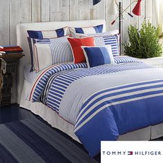 @Overstock - Tommy Hilfiger comforter sets are modern and stylish, and this brilliant blue set with two shams features a contemporary striped pattern and cool, eye-catching red accents. This comforter set is ideal for giving your bedroom or guest room a makeover.http://www.overstock.com/Bedding-Bath/Tommy-Hilfiger-Mariners-Cove-3-piece-Comforter-Set/6775074/product.html?CID=214117 $135.99