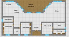 Minecraft Floor Plan Simple Modern House With 3 Bedrooms, 2 Bathrooms (or 3)