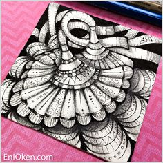 Who knew that shading tiny Zentangle®️ with a 6B pencil could be possible... * enioken.com