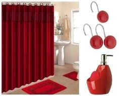 red bathroom sets cheap red bathroom sets with red Cheetah Print Towels Tiger Bathroom Set