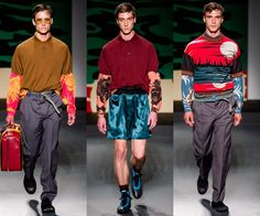 Prada brought back the nerdy short-sleeve-over-long-sleeve trend. You might want to consider lighter layers for summer, because the models looked a bit sweaty.